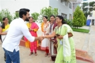 Ram Charan Celebrates Independence Day In Chirec School Photos