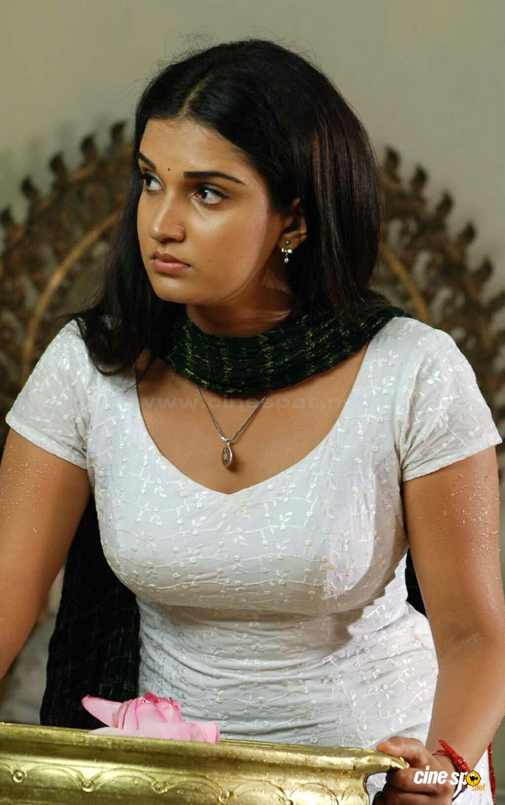 Kerala Chechi Showing Cleavage Through Blouse - Indian