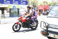 Vijay Anushka in Vettaikaran Bike Photos