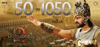 Baahubali 2 Film 50 Days 1050 Centers Poster