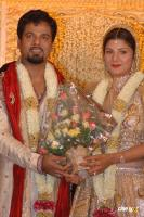 Rambha With Indra Kumar Marriage Reception Photos