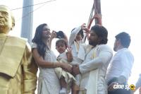 Allu Arjun With Family Celebrates Sankranthi in Palakollu Photos