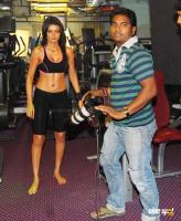 Vishal Saxena Shoots Special Fitness Theme For Sherlyn Chopra Photos