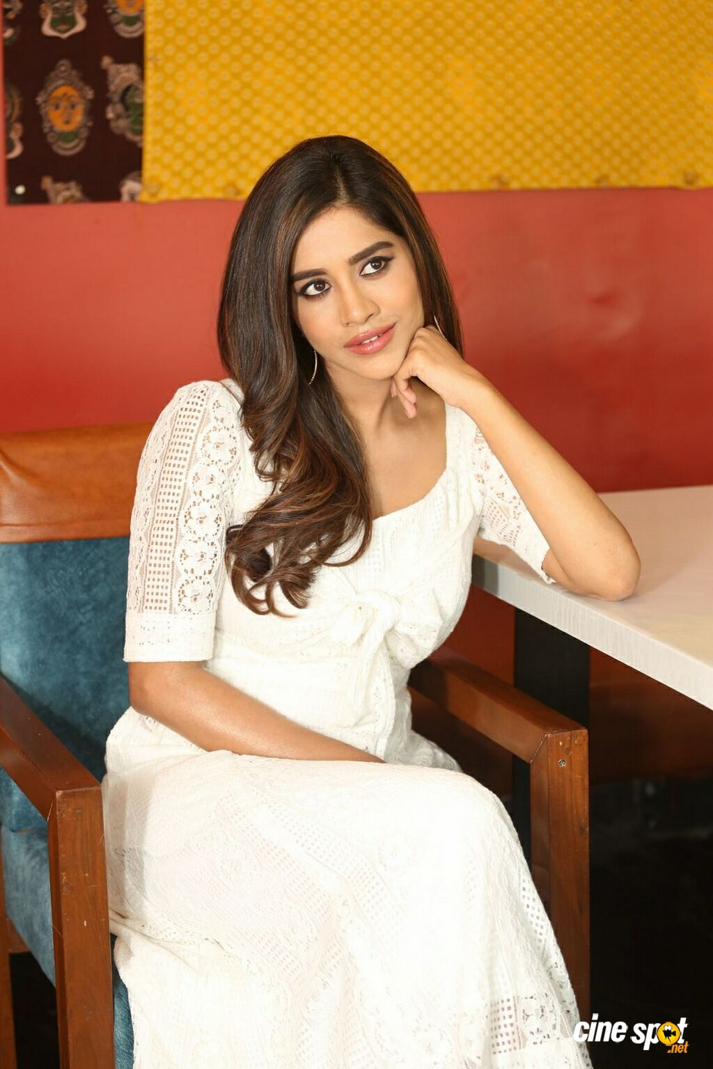 Disco Raja Movie Heroine Nabha Natesh Interview Photos (4)