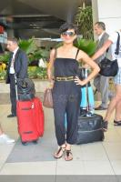 Grammy nominated International singer Nadia Ali arrives in Mumbai