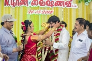 Producer Kalaignanam Grandson Jayakumar Marriage Reception Photos