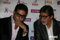 Amitabh & Abhishek watch Paa with Kids bollywood photos,images,stills,gallery
