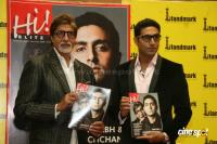 Big B & Abhishek unveil Hi Blitz magazine bollywood photos,images,stills,gallery