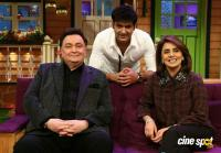 Rishi Kapoor & Neetu Singh On Set Of The Kapil Sharma Show (2)