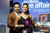 Singapore Tourism Host PC With Badrinath Ki Dulhania Team Photos