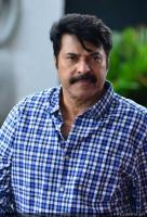 Mammootty at Abrahaminte Santhathikal Promo Meet (1)