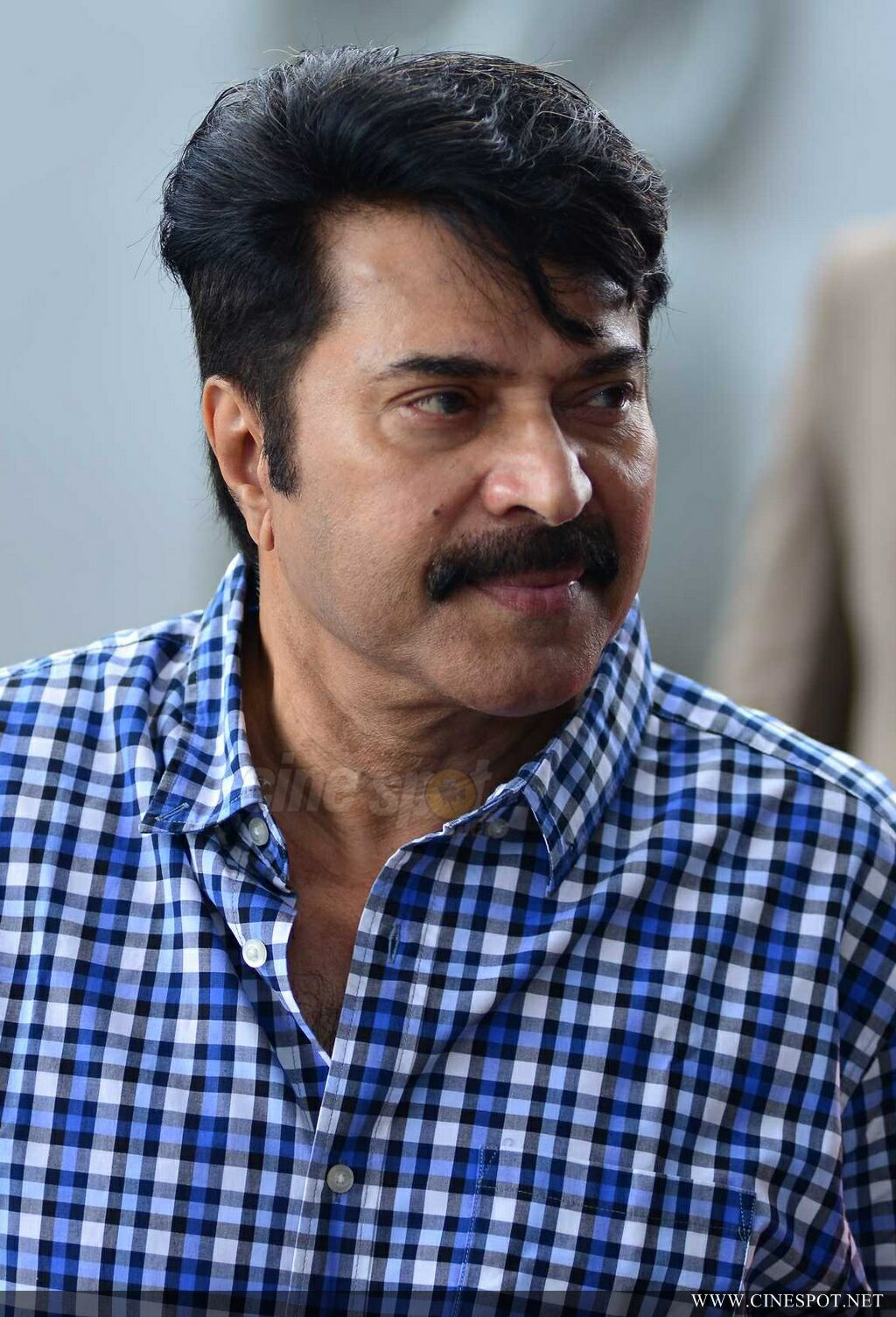 Mammootty at Abrahaminte Santhathikal Promo Meet (2)